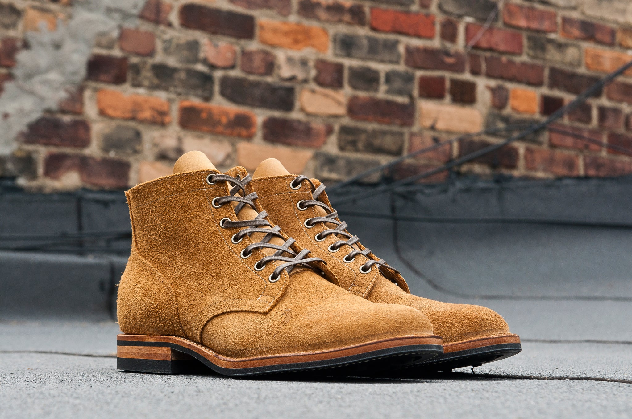 Viberg Sand Nubuck Roughout Service Boot at shoplostfound 5