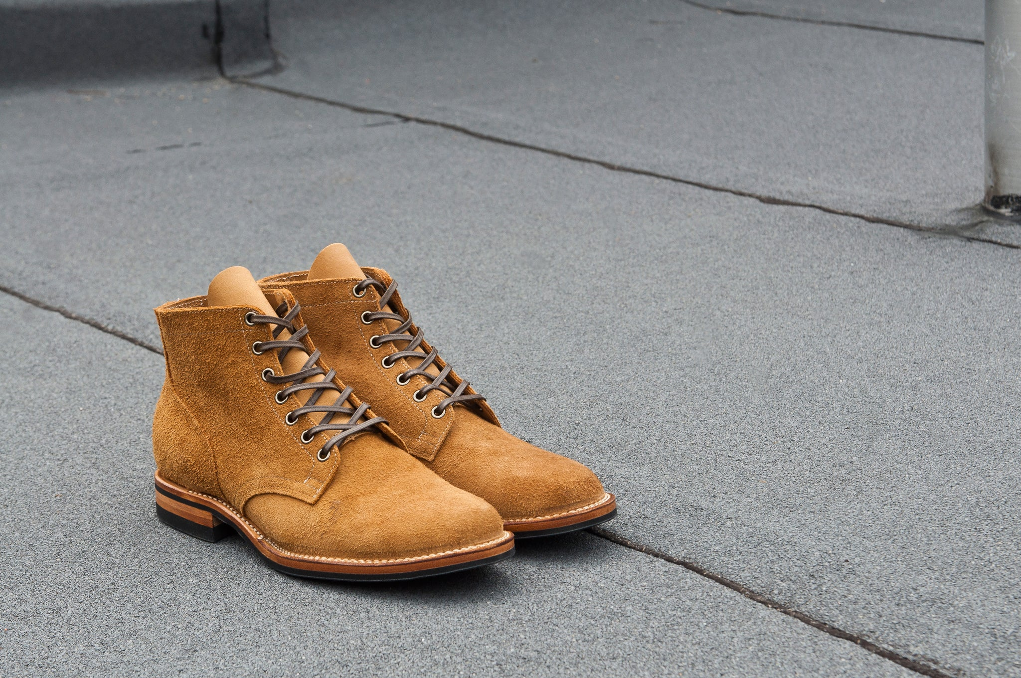 Viberg Sand Nubuck Roughout Service Boot at shoplostfound 6