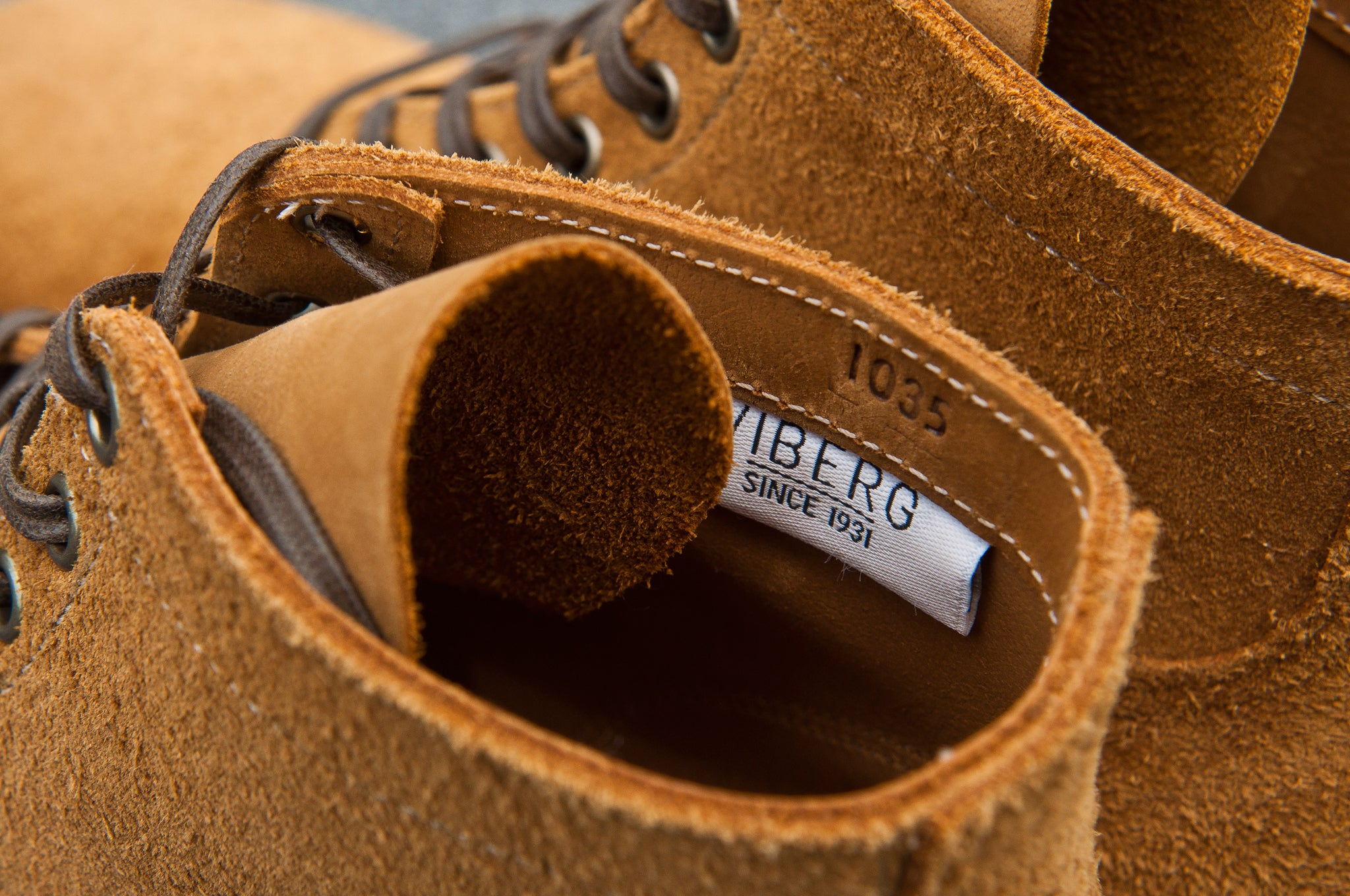 Viberg Sand Nubuck Roughout Service Boot at shoplostfound 7