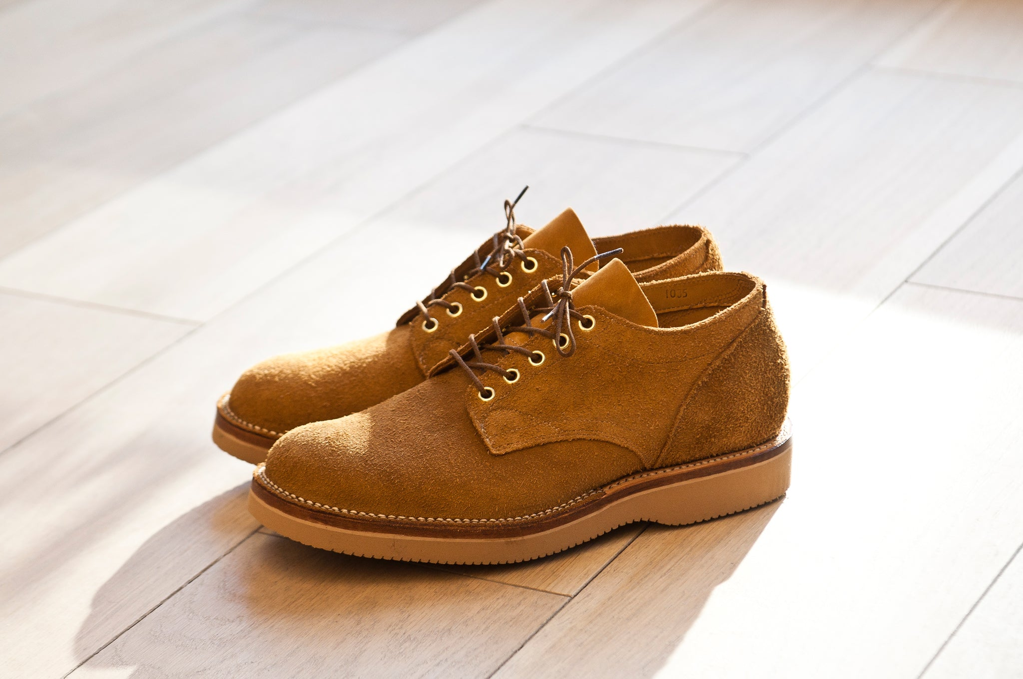 Viberg Wheat Oxford Roughout at shoplostfound 6