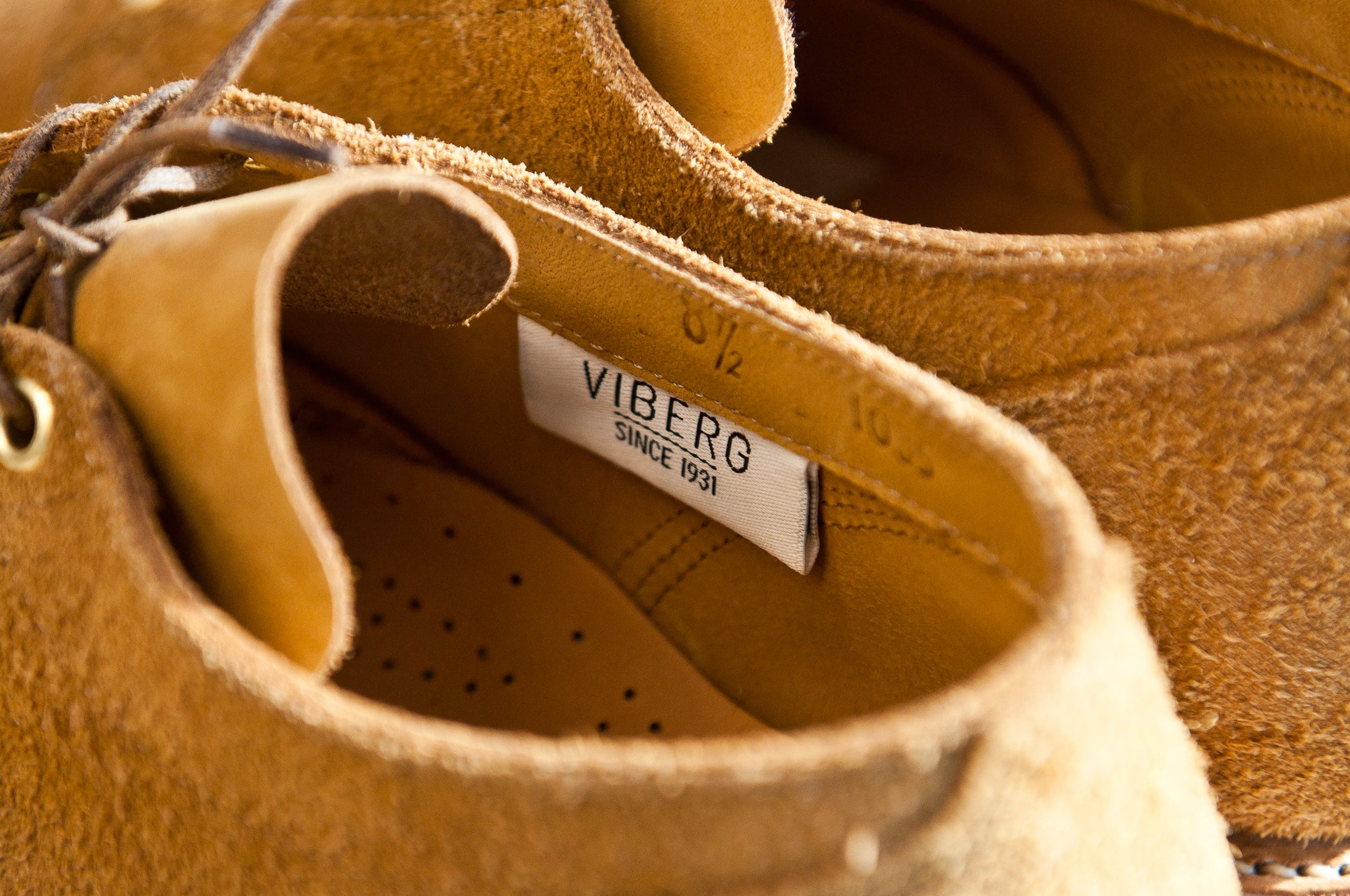 Viberg Wheat Oxford Roughout at shoplostfound 7