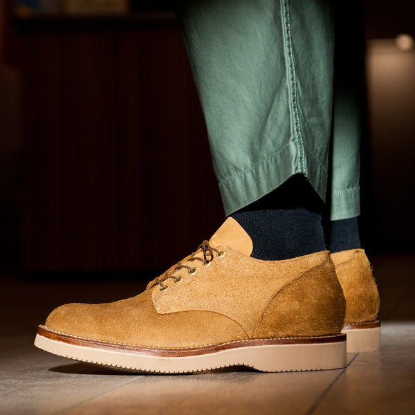 Viberg Wheat Oxford Roughout at shoplostfound Preview