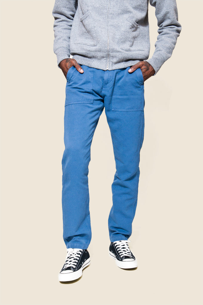 C.O.F. Studio Fatigue Pant Cotton Linen Avio Blue at shoplostfound 1