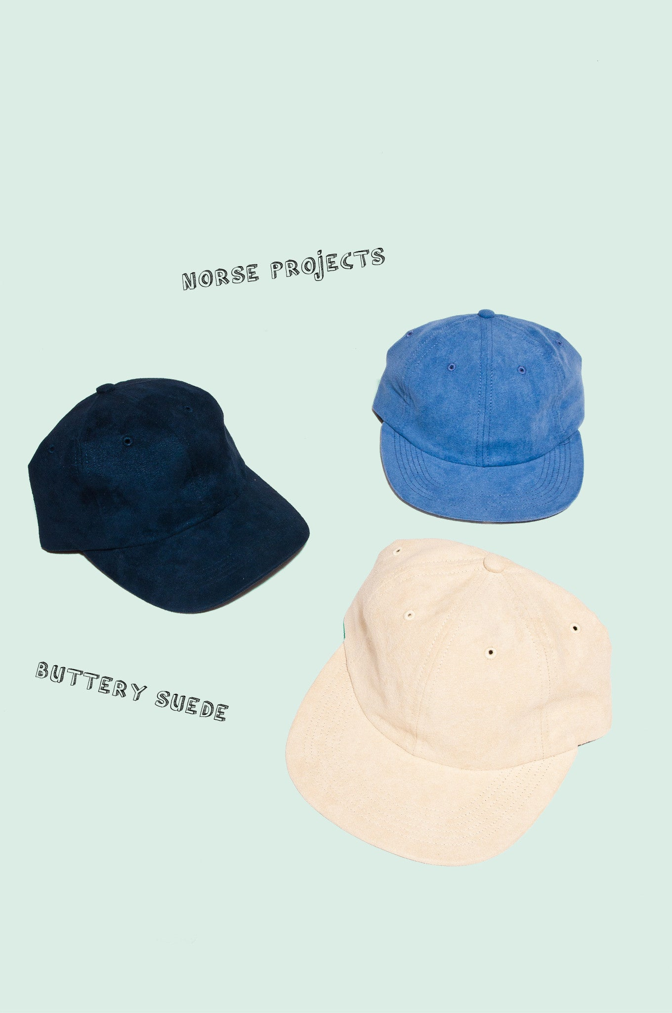 Norse Projects Suede Hats at shoplostfound