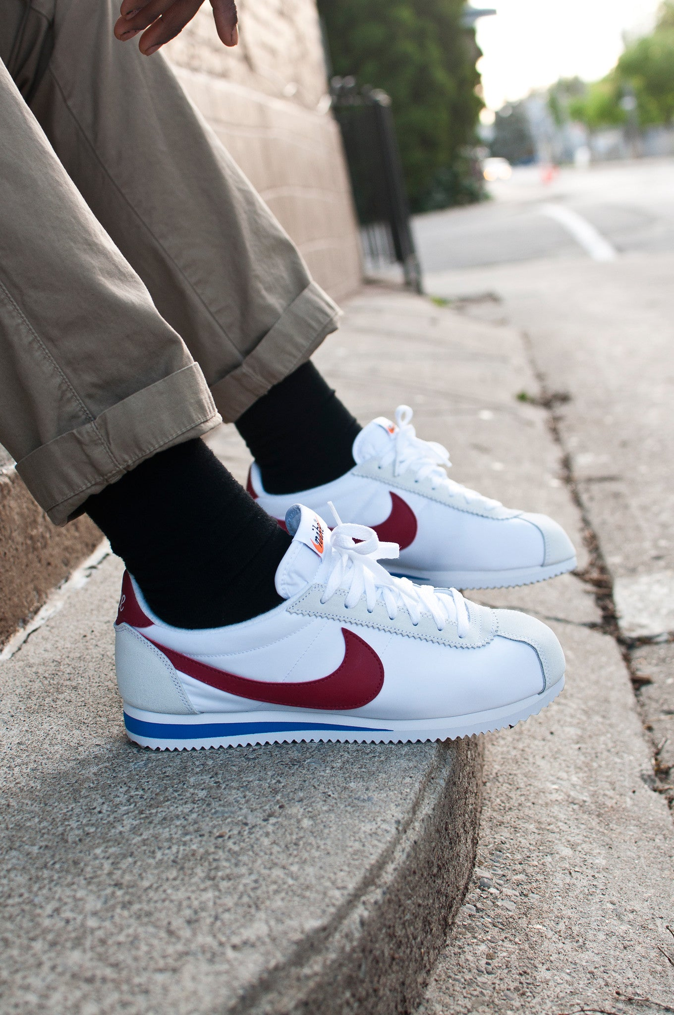 Nike Air Classic Cortez Premium White/Red/Royal 876873-101 at shoplostfound 2