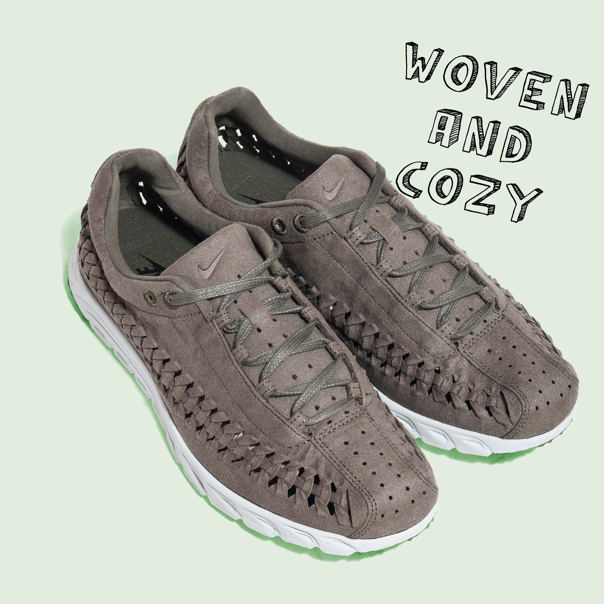 Nike Mayfly Woven Olive at shoplostfound 833132-200