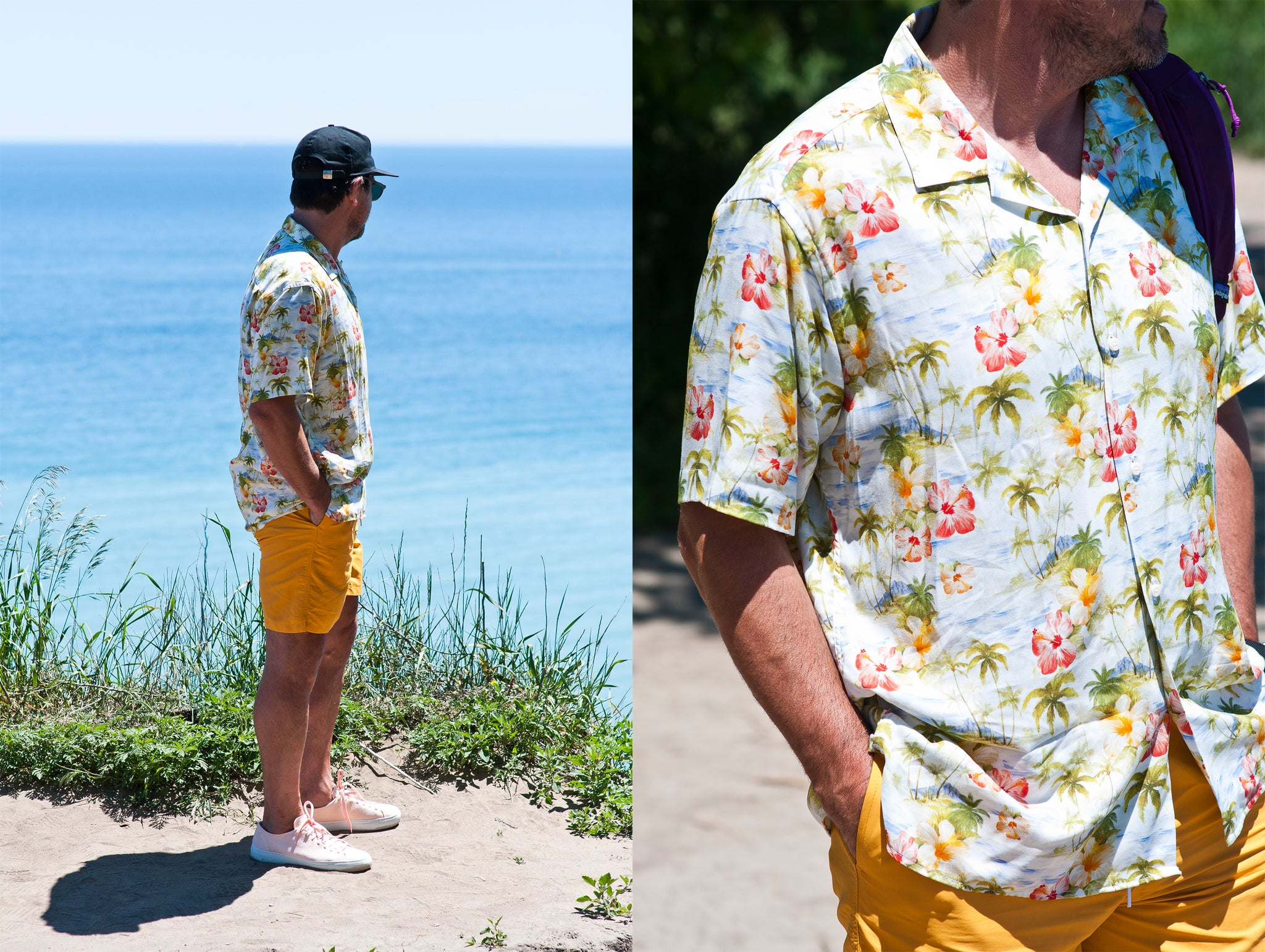 Gitman Vintage Bros. Watercolor Tropics at shoplostfound