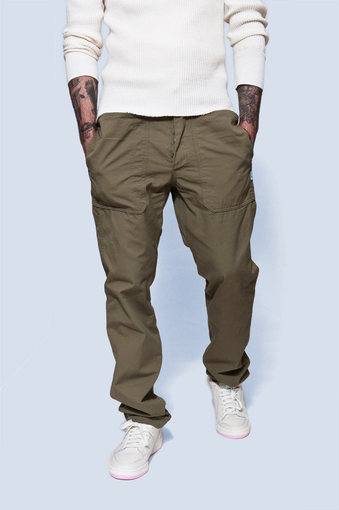 Sassafras Fall Leaf Sprayer Pant Olive at shoplostfound 1
