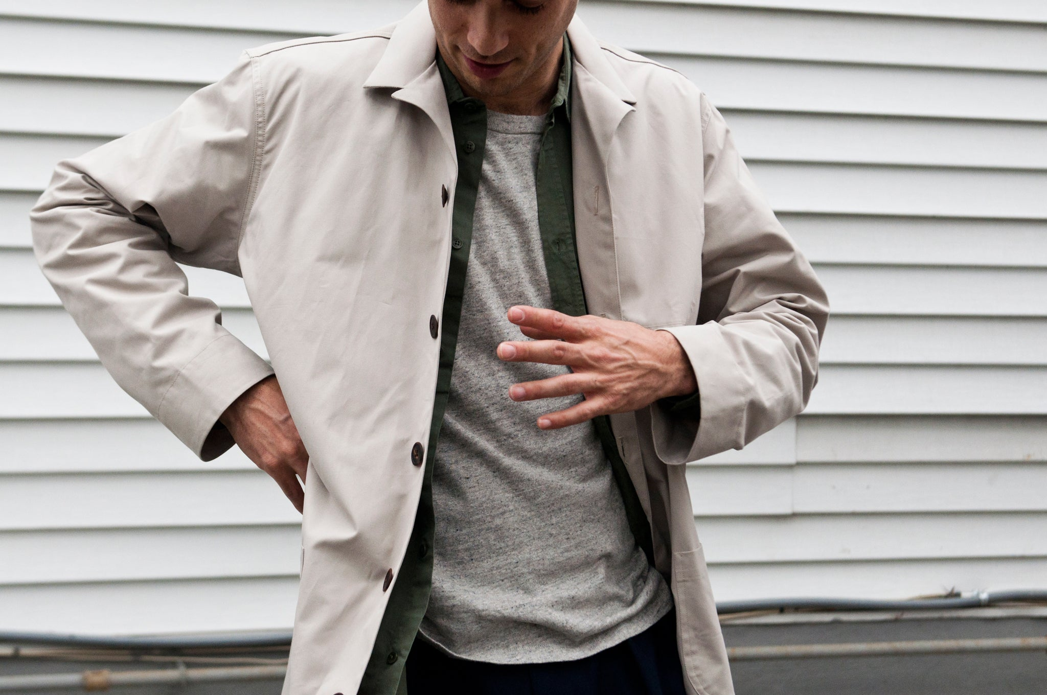 Schnayderman's Coatshirt Trench One Stone at shoplostfound 2