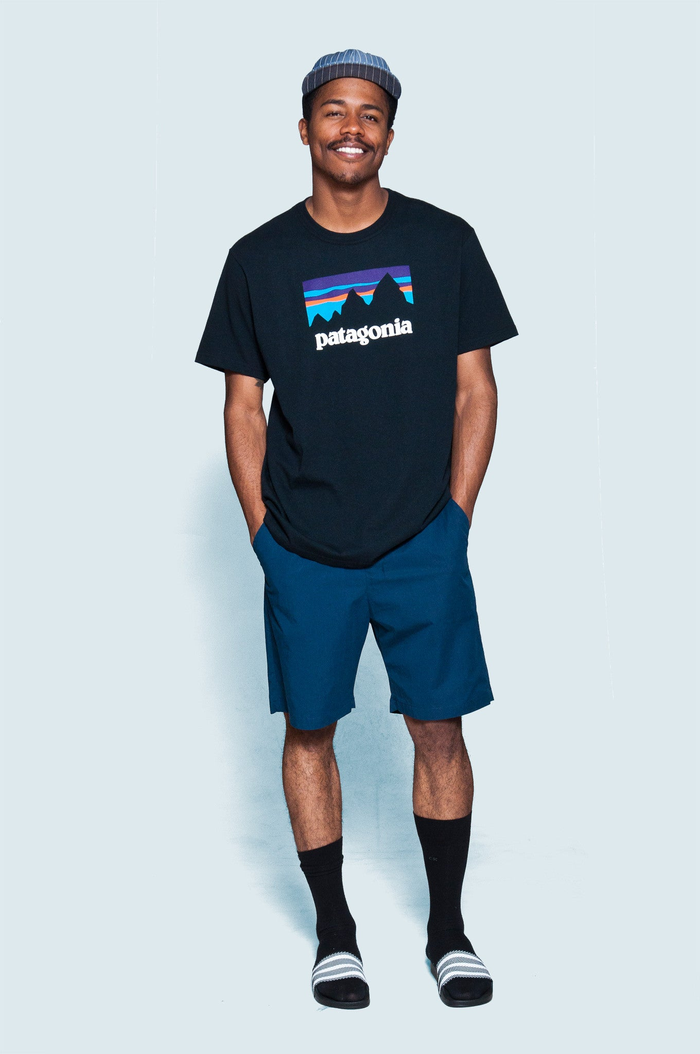 Patagonia SS Shop Sticker Cotton T-Shirt at shoplostfound