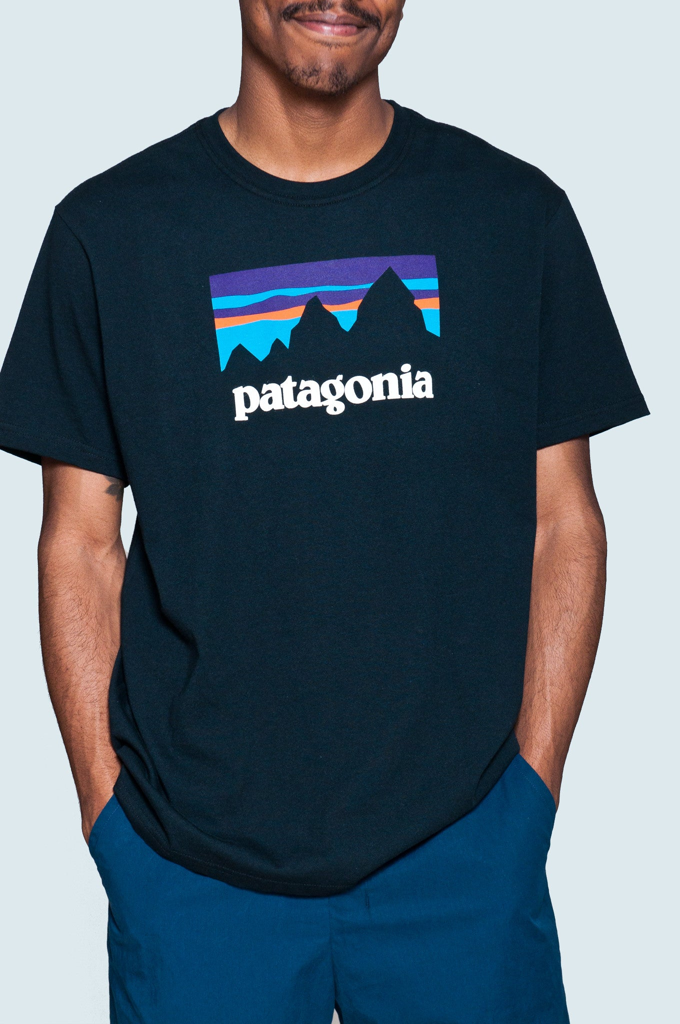 Patagonia SS Shop Sticker Cotton T-Shirt at shoplostfound 2