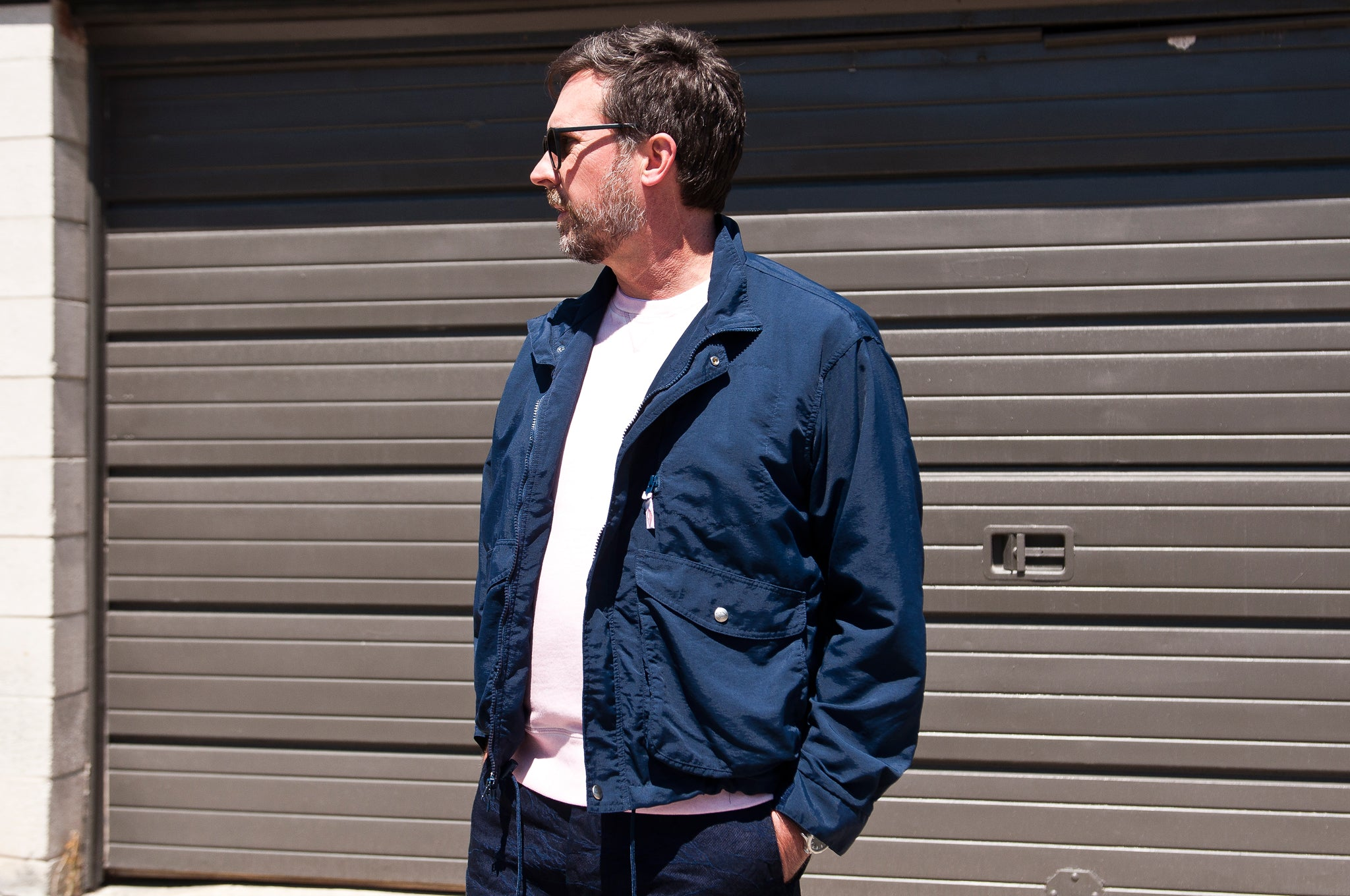 Battenwear Weekend Jacket Navy at shoplostfound