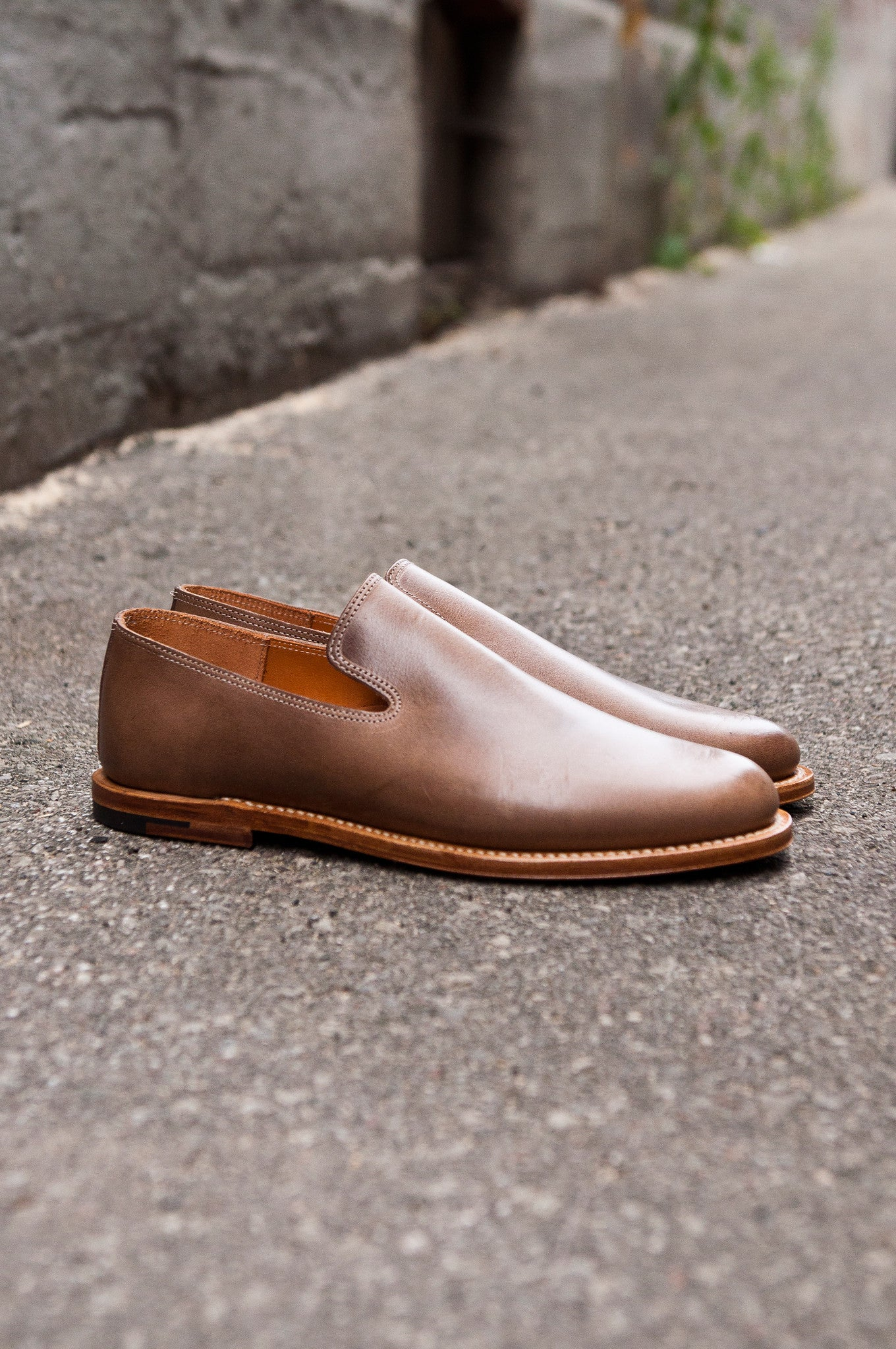 Viberg Natural Chromexcel Slipper at shoplostfound 01