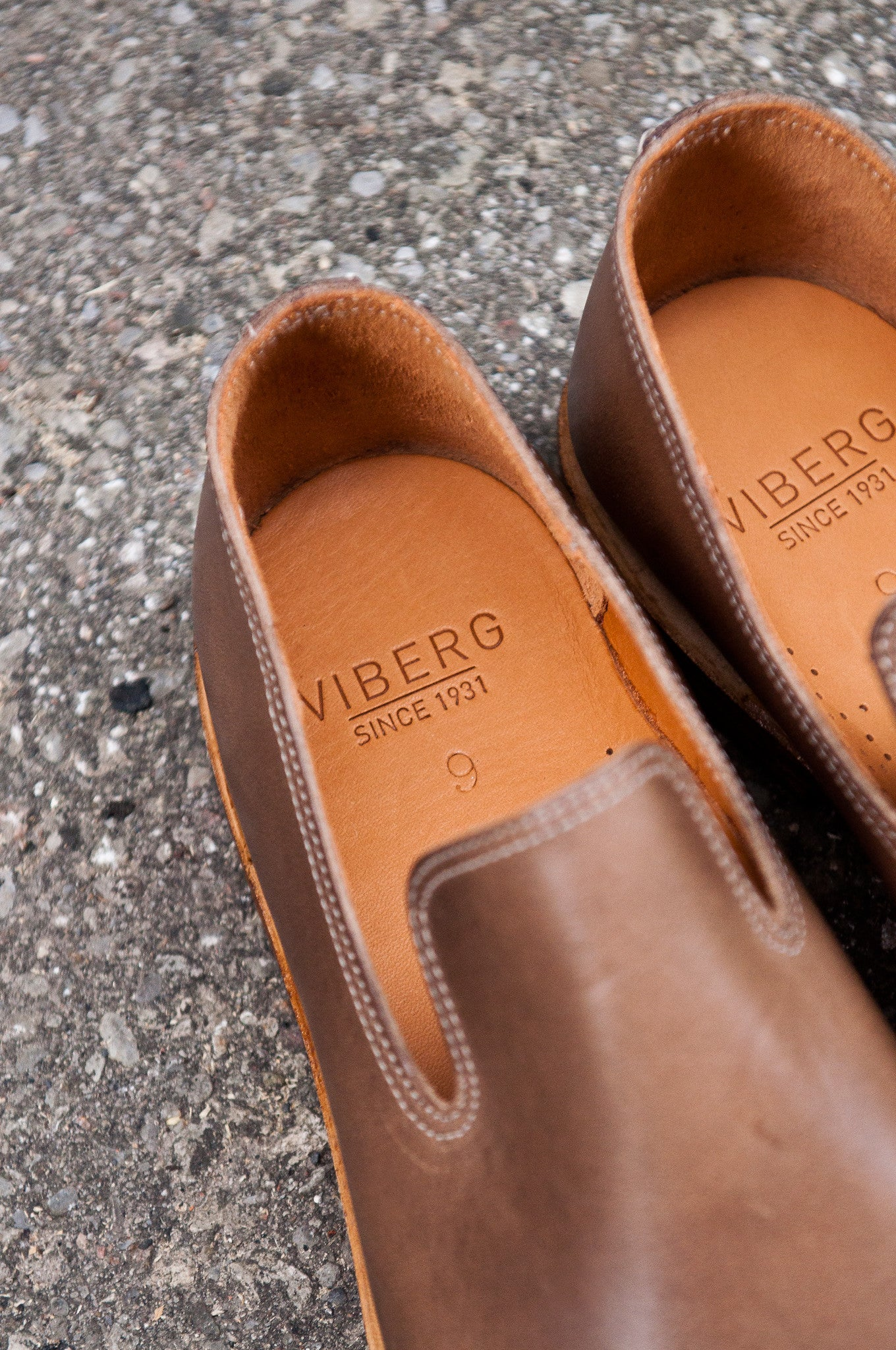 Viberg Natural Chromexcel Slipper at shoplostfound 02