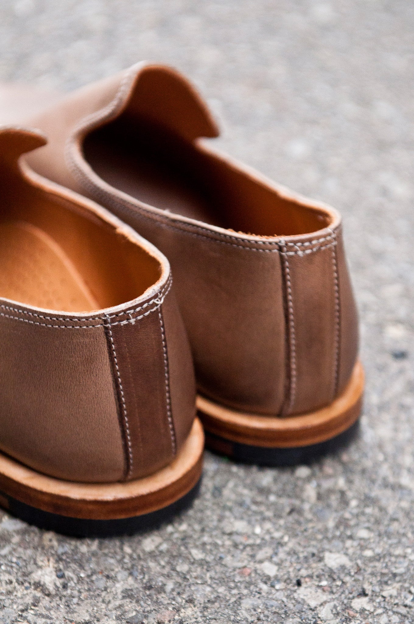 Viberg Natural Chromexcel Slipper at shoplostfound 04
