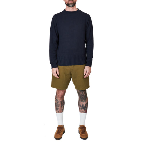 MHL Officers Crew Neck Linen Cotton Dark Navy