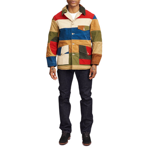 The Real McCoy's MJ21015 Multicolour Corduroy Hunting Coat Tricolour