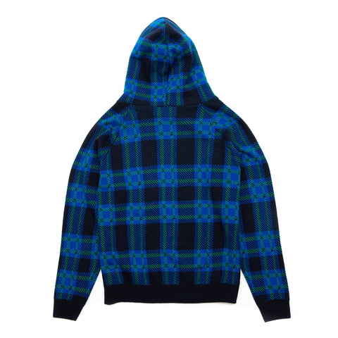 4S Designs Knit Hoodie Sweater Blue