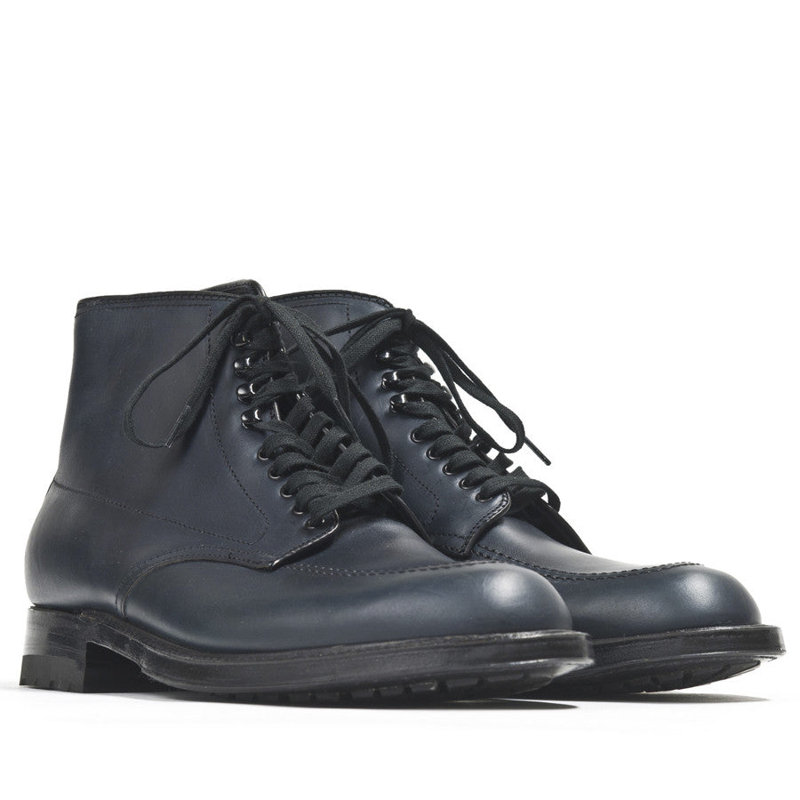 Alden Inside Out Navy Silksport Indy Boot with Black Commando Sole at shoplostfound in Toronto, product shot