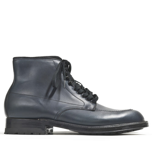 Alden Inside Out Navy Silksport Indy Boot with Black Commando Sole at shoplostfound in Toronto, profile
