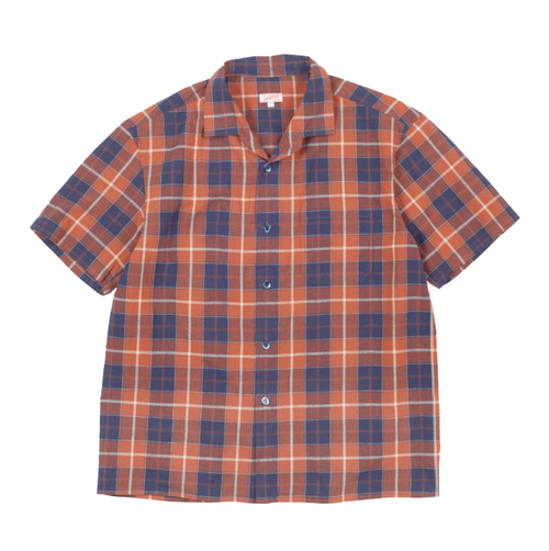 Arpenteur Pyjama Check Shirt Orange