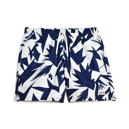 Bather Blue Abstract Swim Trunk