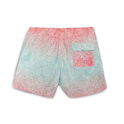 Bather Blue Gradient Cheetah Swim Trunk