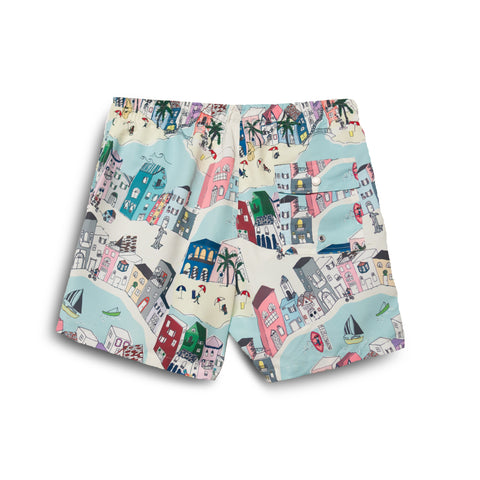 Bather Multi Cityscape Swim Trunk
