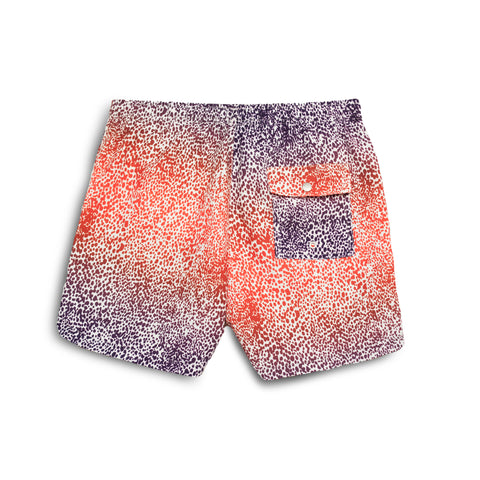 Bather Purple Gradient Cheetah Swim Trunk