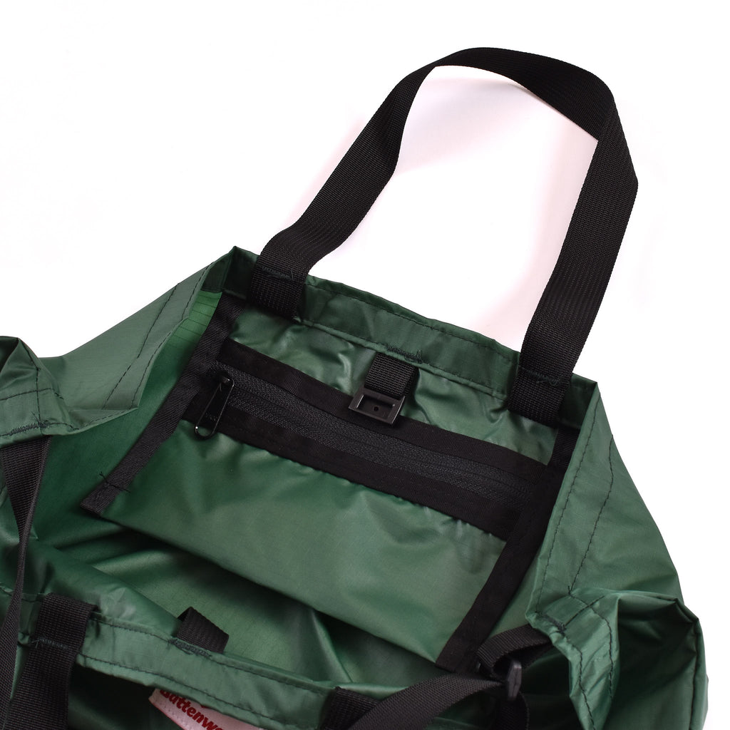 Battenwear Packable Tote Forest Green/Black
