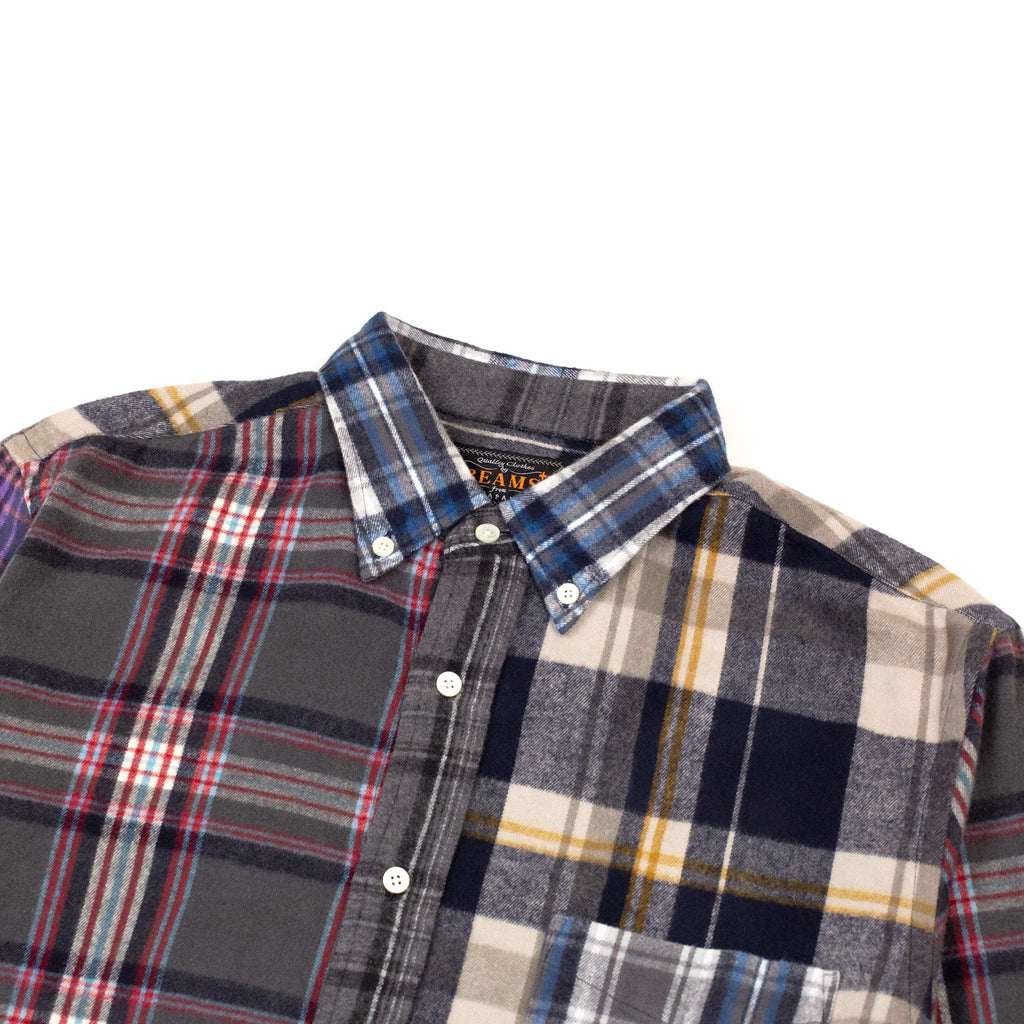 Beams-Plus-B.D.-Multi-Pattern-Shaggy-Check-Shirt-Collar-Detail