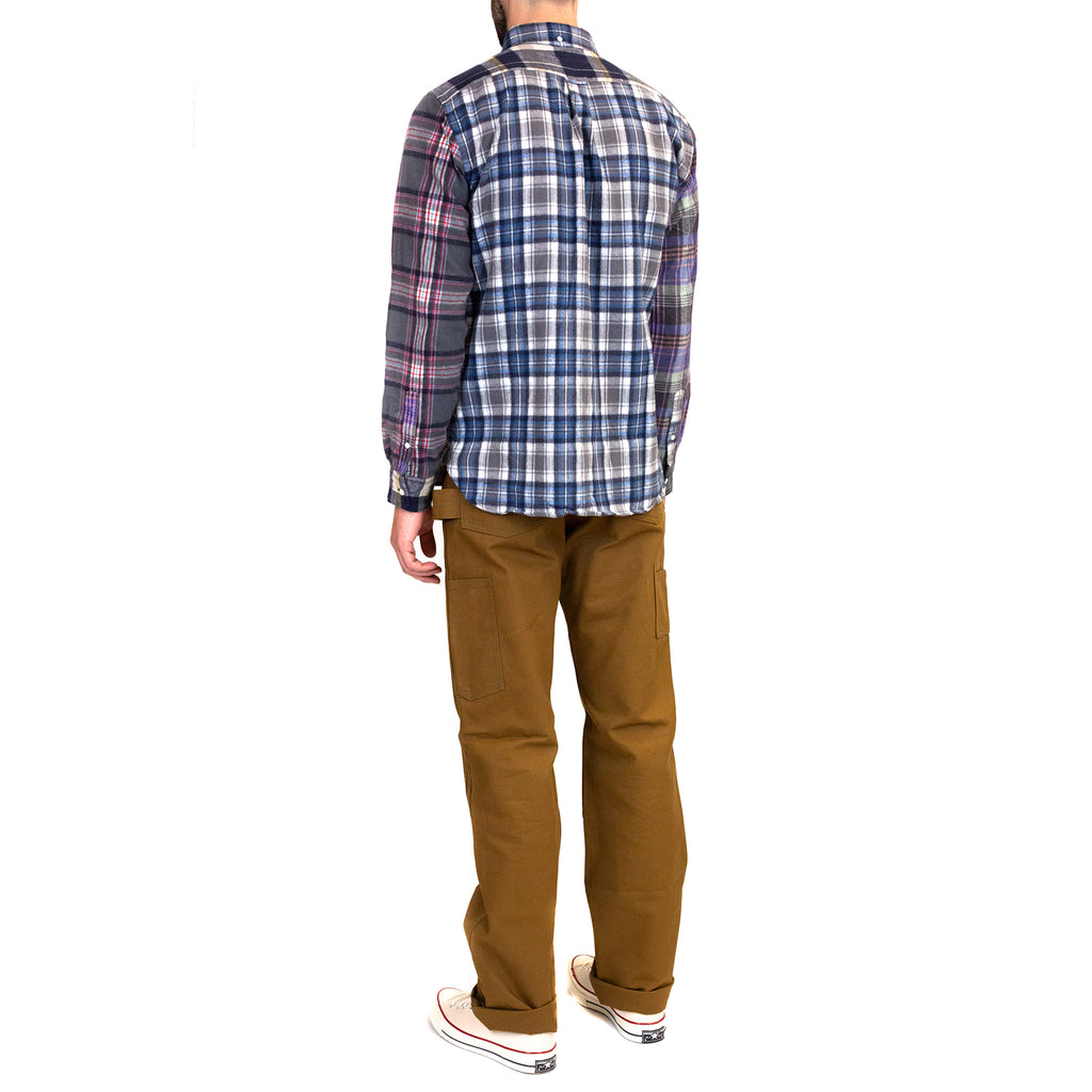 Beams-Plus-B.D.-Multi-Pattern-Shaggy-Check-Shirt-model-fit-back