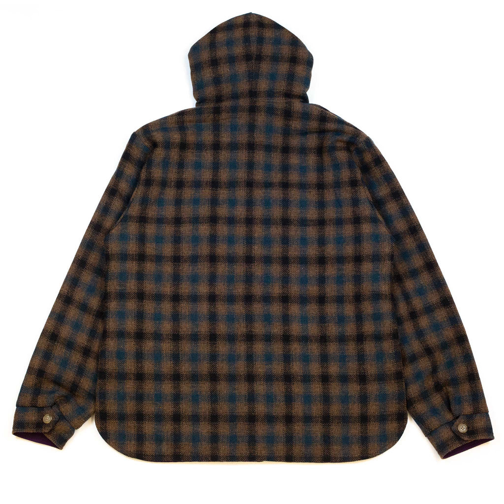 Beams-Plus-Hooded-CPO-Reversible-Small-Check-B