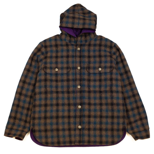 Beams-Plus-Hooded-CPO-Reversible-Small-Check-Front-Flat