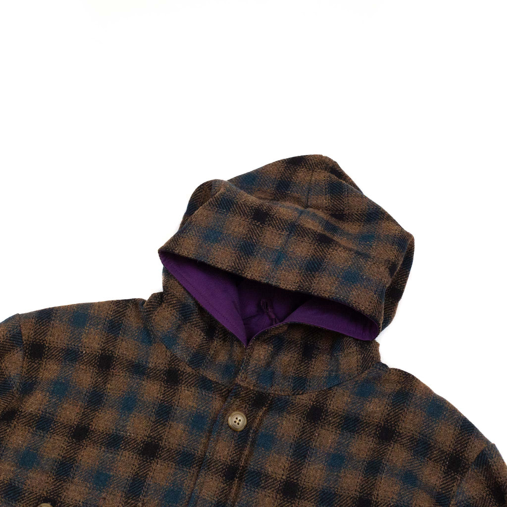 Beams-Plus-Hooded-CPO-Reversible-Small-Check-Hood-detail