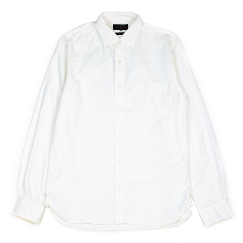 Beams Plus Oxford Button Down Shirt White