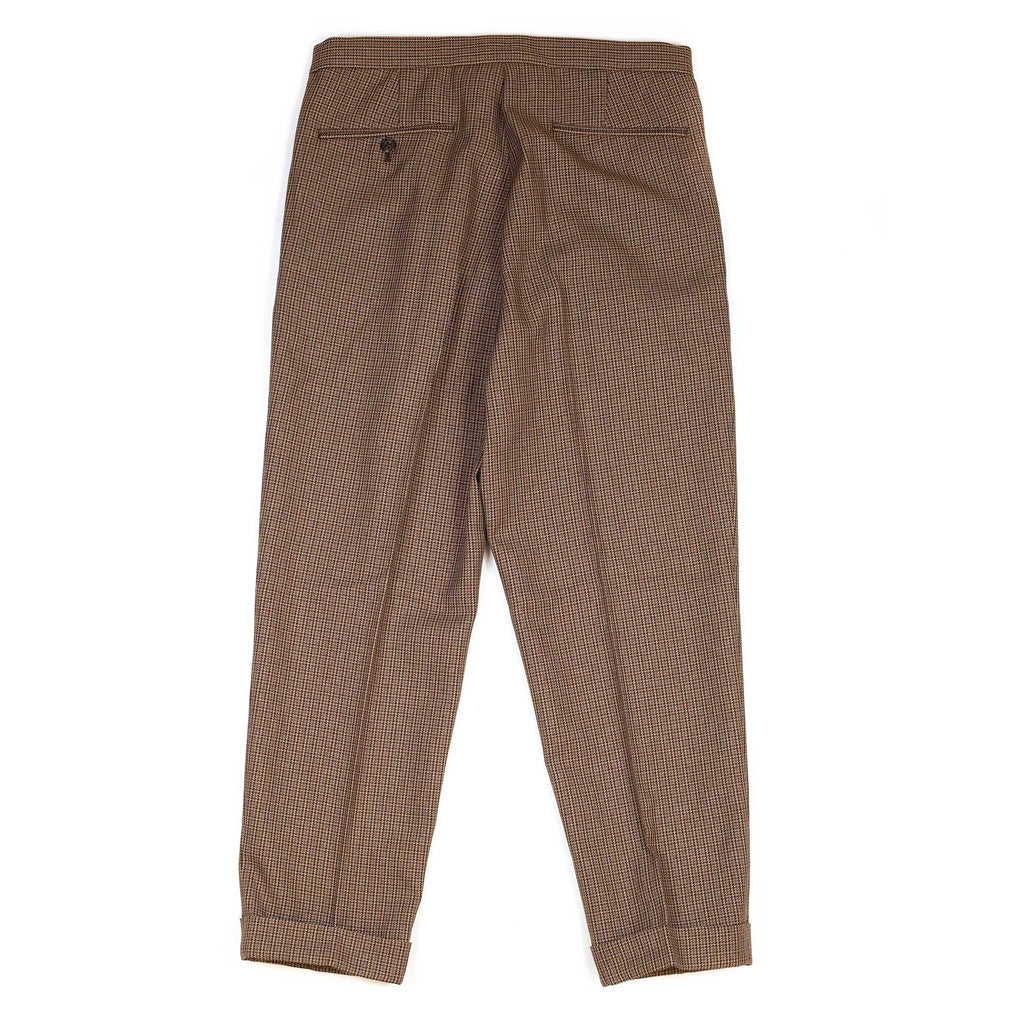 Beams-Plus-Travel-Trousers-1Pleat-Tweed-Brown-Back-Flat