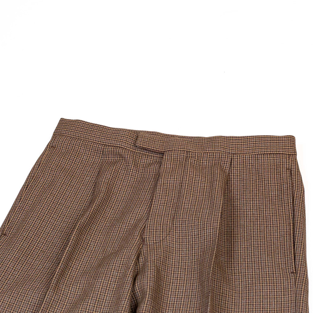 Beams-Plus-Travel-Trousers-1Pleat-Tweed-Brown-Detail-Flat