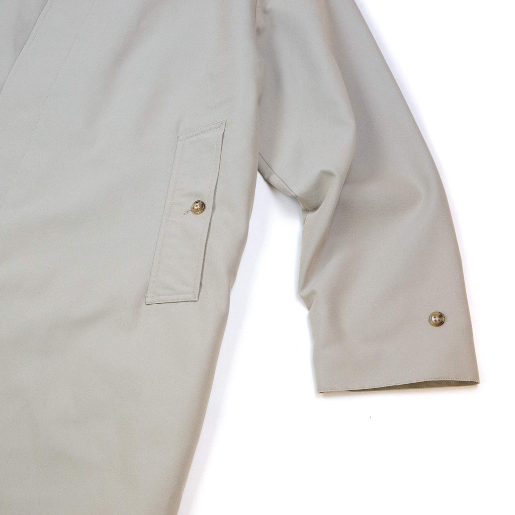 Beams Plus Balmacaan Collar Coat Tetoron/Cotton Gabardine Beige