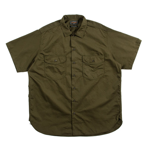 Beams Plus Short Sleeve WORK Twill OliveBeams Plus Short Sleeve WORK Twill Olive