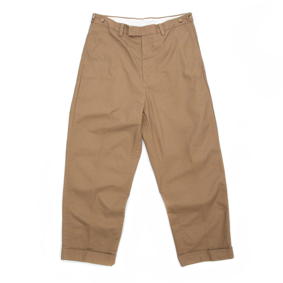 Beams Plus Wide Trousers Twill Khaki