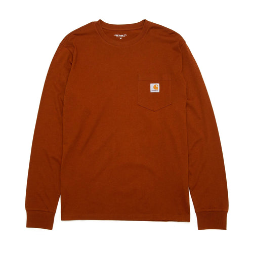 Carhartt W.I.P. Long Sleeve Pocket T-Shirt Brandy