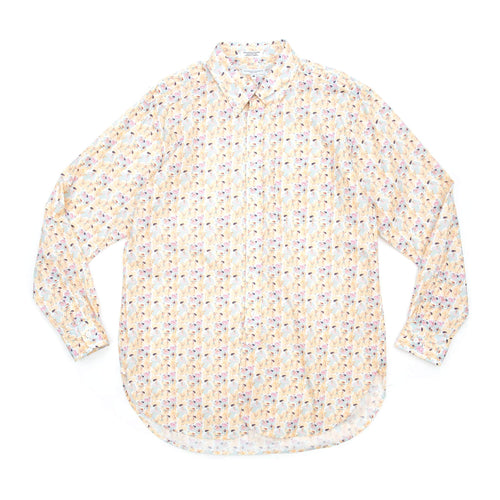 Engineered Garments 19th Century BD Shirt Orange Light Blue Cotton Surf Print