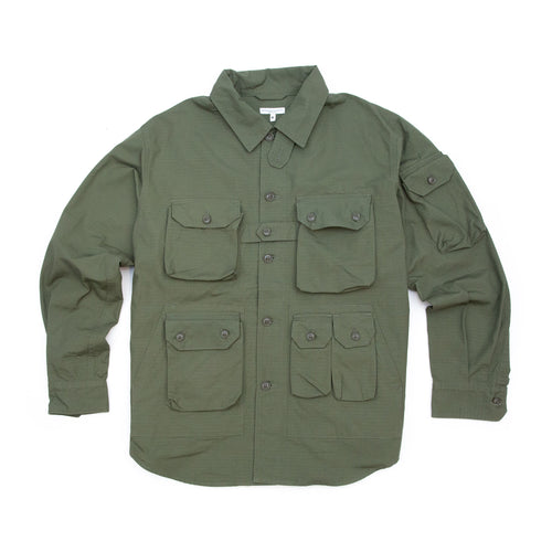 Engineered Garments Explorer Shirt Jacket Olive Cotton Ripstop