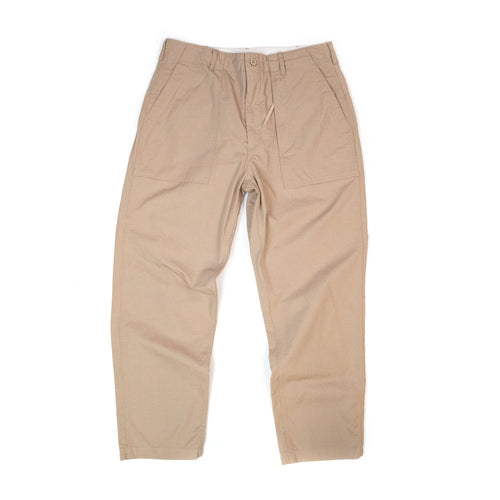 Engineered Garments Fatigue Pant Khaki Cotton Ripstop Front