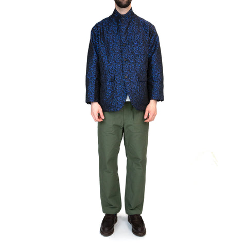 Engineered Garments Loiter Jacket Blue Black Shiny PC Jacquard