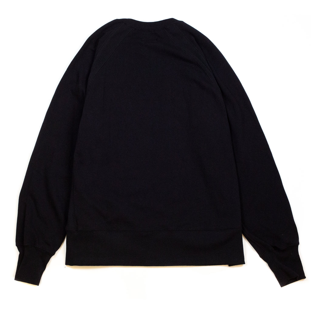Engineered-Garments-Plain-Raglan-Crew-Black--Back-Flat