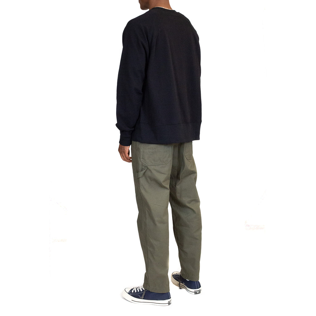 Engineered-Garments-Plain-Raglan-Crew-Black--back-model