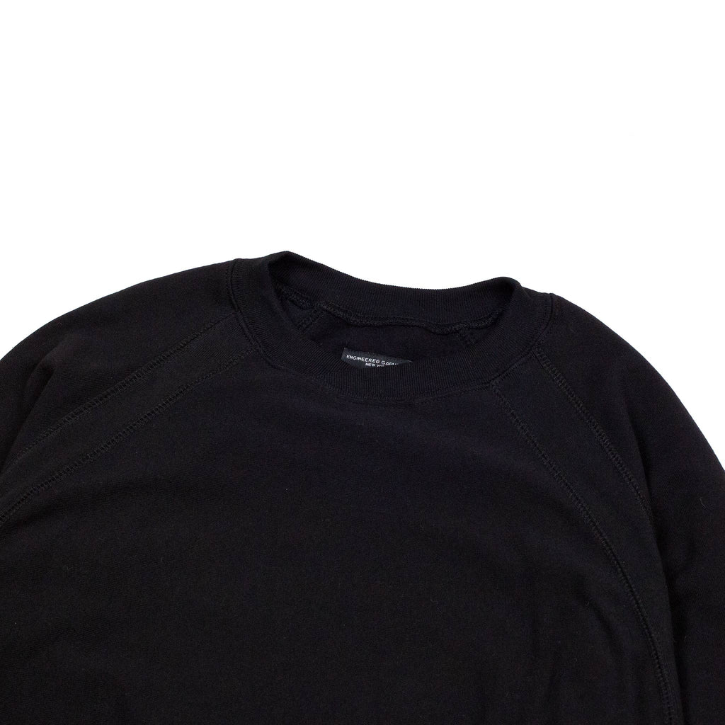 Engineered-Garments-Plain-Raglan-Crew-Black-Flat-Detail