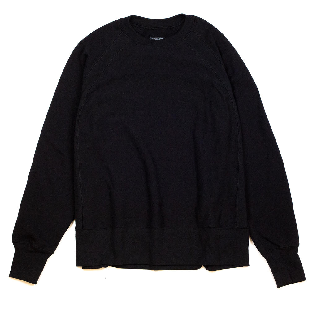 Engineered-Garments-Plain-Raglan-Crew-Black-Flat-Front